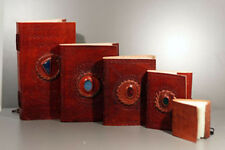 Gothic-Steampunk-Medieval/Pagan-LARP-Wicca-LEATHER BOUND-HANDMADE PAPER BOOK SML
