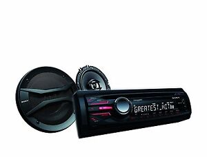 Sony-CXS-GT5616F-Bundle-CDX-GT56UI-Radio-6-5-034-Coaxial-Speakers-USB-iPod-Control