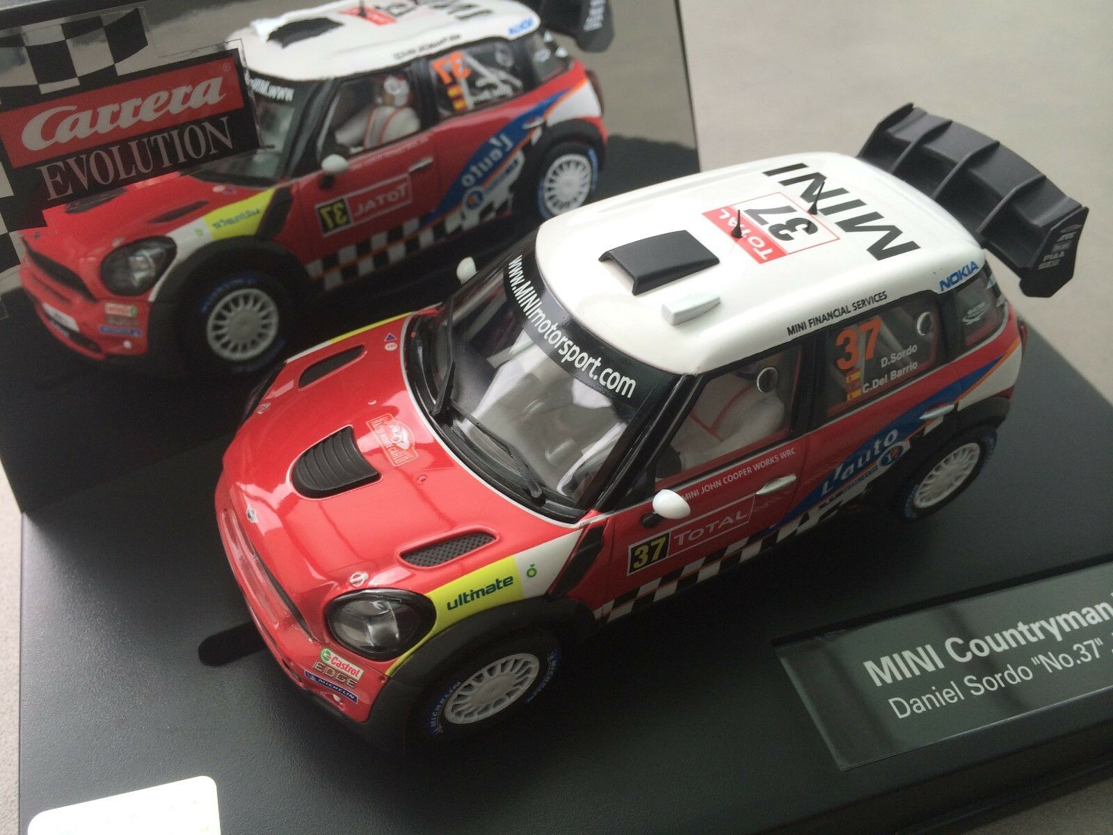 Carrera Evolution 27405 Mini Countryman WRC Daniel Sordo   no. 37   2012 OVP