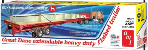 AMT 1//25 Great Dane Extendable Heavy Duty Flatbed Trailer AMT1111-NEW