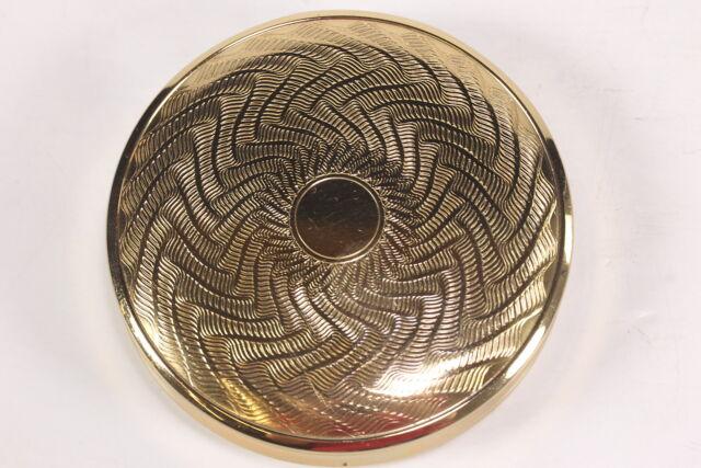 "Melissa Of London Goldtone Metal Unused Compact W/ Mirror 2 7/8"" Diam. Empty"