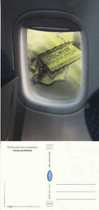 THE-DISCOVER-CREDIT-CARD-AMERICAN-AIRLINES-UNUSED-COLOUR-POSTCARD-a