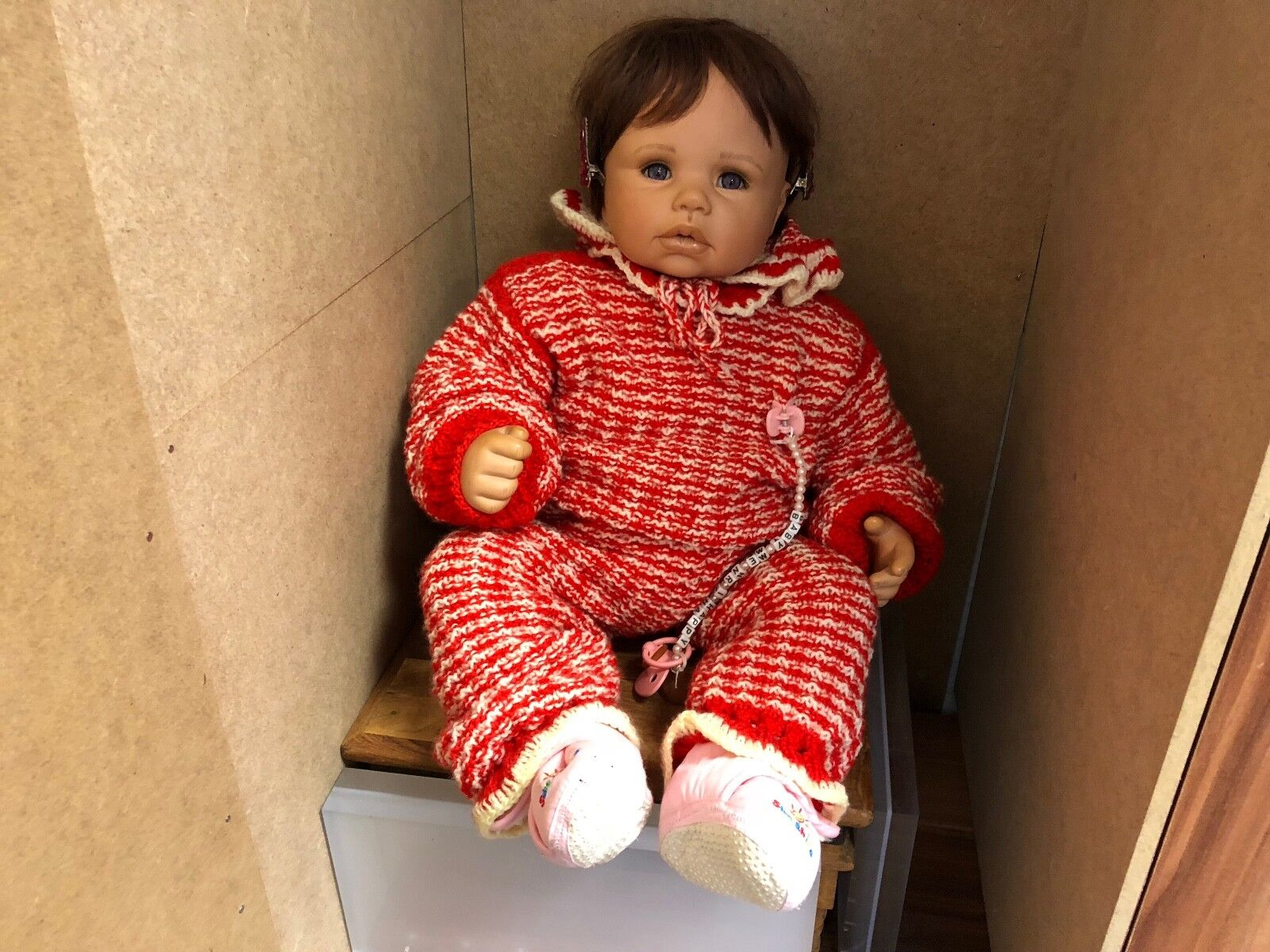 Monika Levenig Vinyl Puppe 60 cm. Top Zustand
