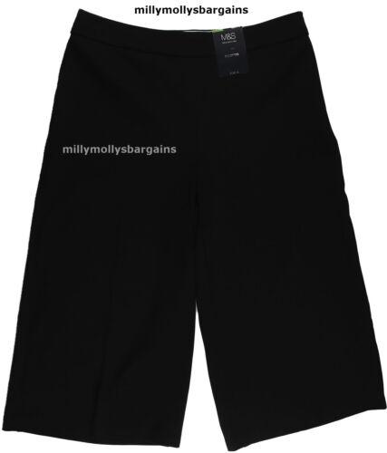 New Womens Marks /& Spencer Black Culottes Size 20 18 16 14 12 Medium Short