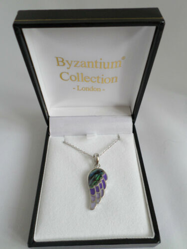 Lovely hand designed Paua Shell Angel Wing Necklace
