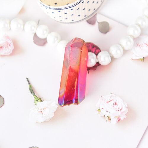 rare natural color aura lemurian seed quartz crystal stones point specimen HC