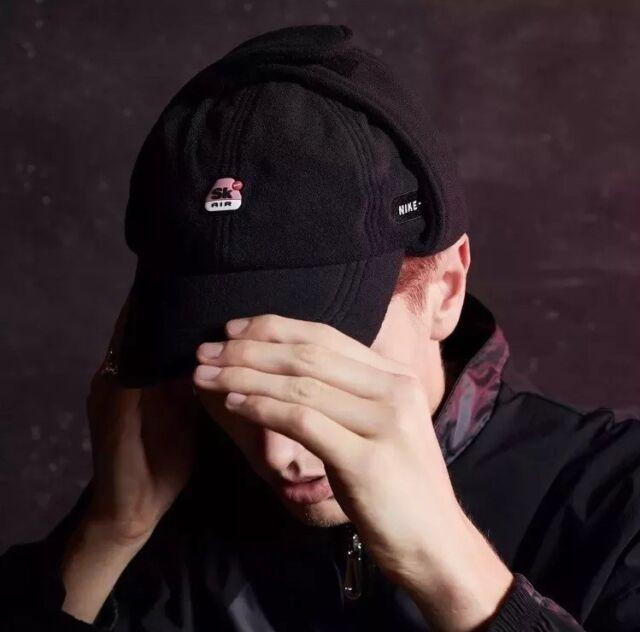 Nike X Skepta H86 Earflap Cap Black White Fleece Hat SK Air for sale ... c16c394568b