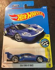 2017 Hot Wheels '16 Ford GT Race Super CUSTOM with 10 Spoke Chrome Real Riders