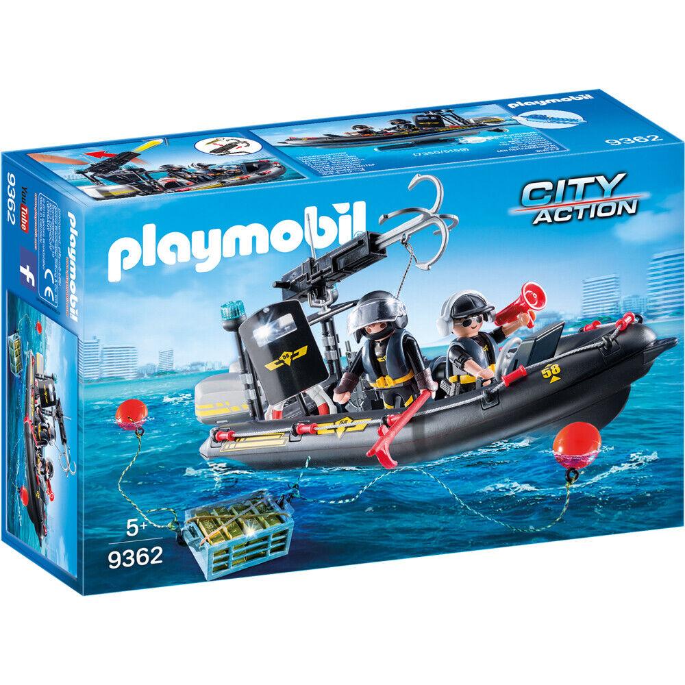 Playmobil City Action Tactical Unit SWAT SWAT SWAT Boat Playset 9362 acc177