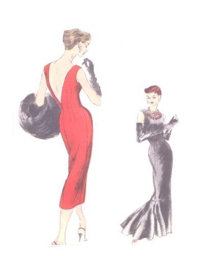 #165 SHEATH DRESS WITH FUR  Pattern for Fashion Dolls