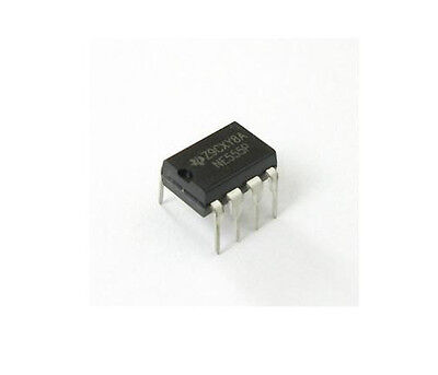 12PCS NE555P NE555 DIP-8 SINGLE BIPOLAR TIMERS IC NEW