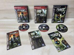 Lot of 3 PS2 Playstation 2 Splinter Cell Games Pandora / Chaos / Stealth CIB