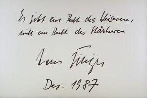 Hans Filbinger - A1#15 Moderater Preis Original Signiert