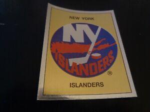1988-89 Panini NHL Hockey Sticker #281 New York Islanders Logo - NR-MT