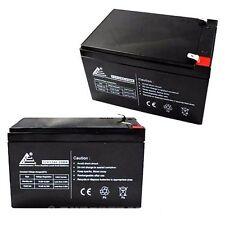 PACK OF 2 12V 12AH Sealed Lead  Acid Battery F2 Terminals for UPS + More!