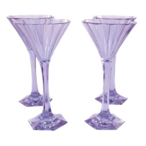 Sektglas aus Alexandrit Glas Leo Moser um 1929 vielfach facettiert 1 von 4