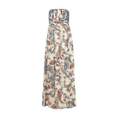 Esprit Collection Abendkleid mit Paisley Dessin Damen Kleid Weiß Größe 34   eBay