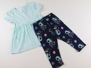 NWT-Gap-Toddler-Girl-039-s-2-Pc-Outfit-Tunic-Mermaid-Leggings-12-18-18-24M-MSRP-30