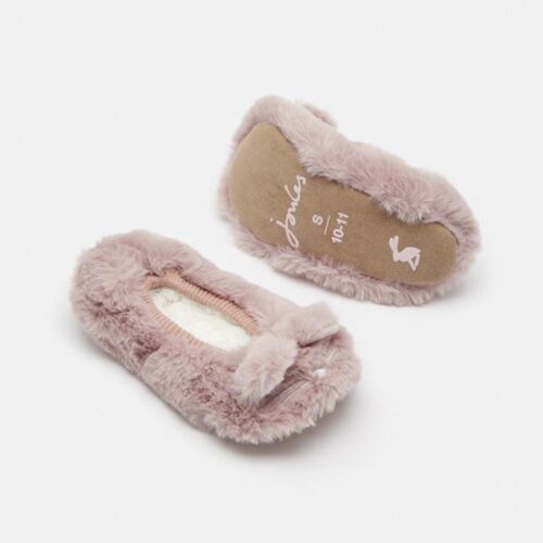 Joules PIPPIE Girls Kids Warm Faux Fur Lined Comfy 3D Character Ballet Slippers