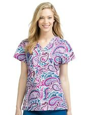 Med Couture Women's Well Spun Valerie 2XL V Neck Scrub Top Uniform 4979 New