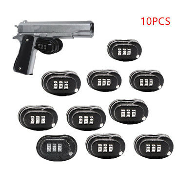 10PCS Universal 3-Digit Combo Trigger Gun Lock For Pistol Rifle Shotgun