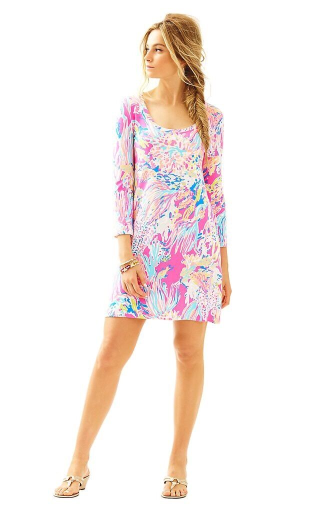 NWT New Lilly Pulitzer Devon Dress Tiki Pink Sunken Treasure Size S