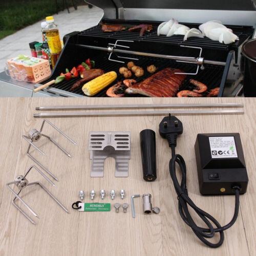NEW Grill Rotisserie Spit Rod Steel BBQ Electric Tool
