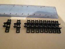LEGO Technic 10 x Caterpillar Tank Track Link pedata larga nero