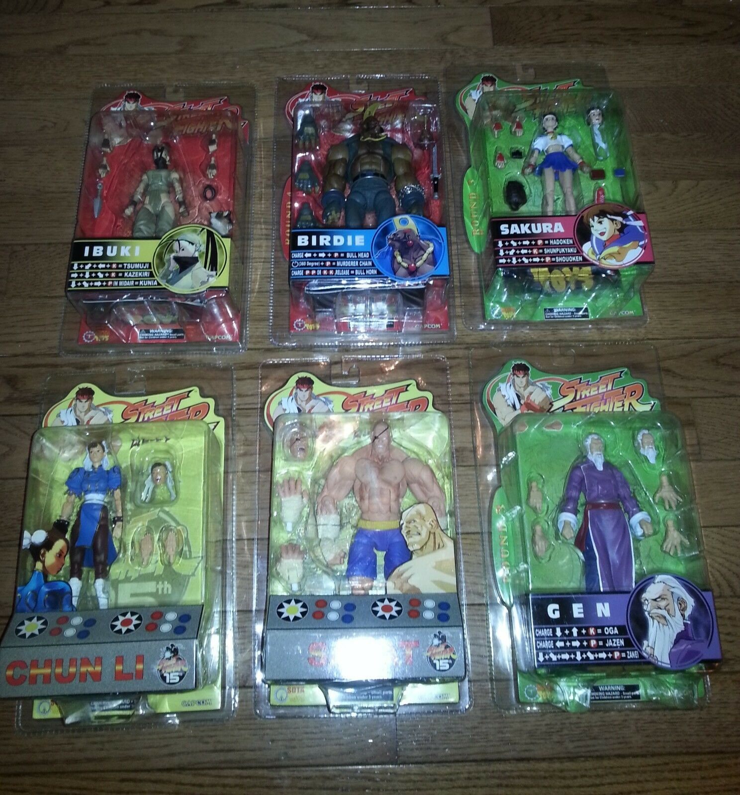 NEW Street Fighter lot of 6 7in Action Figure SOTA TOYS CAPCOM GEN SAGAT BIRDIE