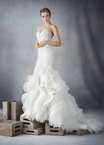 Image Is Loading Lazaro Wedding Dress Style 3610 Authentic Original Owner