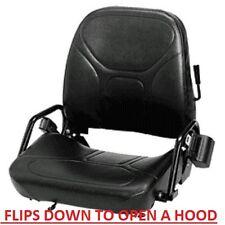 New NISSAN CLARK CAT Forklift Seat Vinyl flip down with seat belt Caterpillar