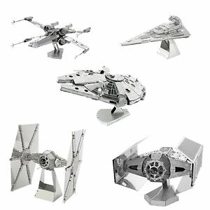 5-Fascinations-Metal-Earth-Kit-Falcon-X-Wing-Imperial-Star-Destroyer-Tie-Fighter