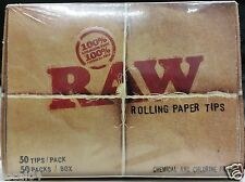 Raw Rolling Paper Tips - 50 Tips / 50 Packs Chemical and Chlorine Free