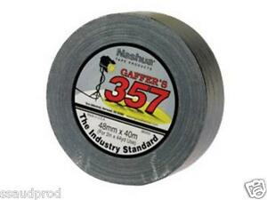 Nashua-357-Gaffa-1-Roll-48mm-x-40m-Black-Gaffers-Tape-FREE-FAST-POST