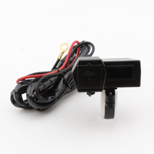 ewmotor USB Charger LED Voltmeter for Suzuki GSXR 600 750 1000 Hayabusa GSX1300R