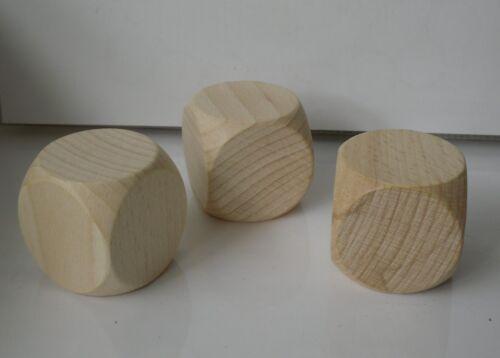 Spiele 10 Blankowürfel  Holzwürfel  zum Bemalen Basteln 30 mm Bastelwürfel