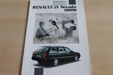 115865) Renault R 21 Nevada - Beverly - Prospekt 02/1992