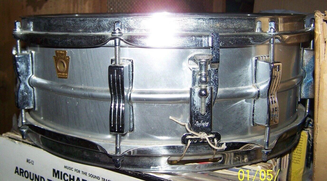 Ludwig Acrolite 5  x 14  Snare Drum Nov 21 1968