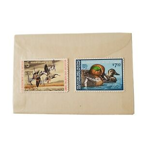 2-Vtg-1970-039-s-Migratory-Bird-Hunting-Stamps-US-Department-of-the-Interior-Used
