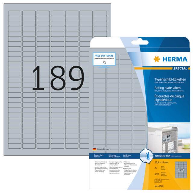 4.725 Herma Identificación 4220 Plata