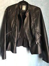 Women's black leather Size M ZARA jacket