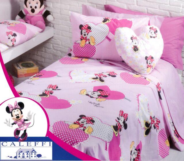 Piumone 1 Piazza E Mezza Disney.Caleffi Disney Copriletto Stampato Panama Minnie Girl Singolo 1 Piazza E Mezza