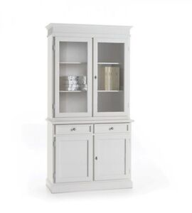 cristalliera credenza vetrina bianca cucina soggiorno | ebay - Vetrina Soggiorno Bianca