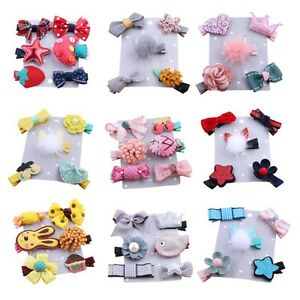 5-6PCS-set-Hairpin-Baby-Girl-Hair-Clip-Bow-Flower-Barrettes-Kids-Infant-Headwear