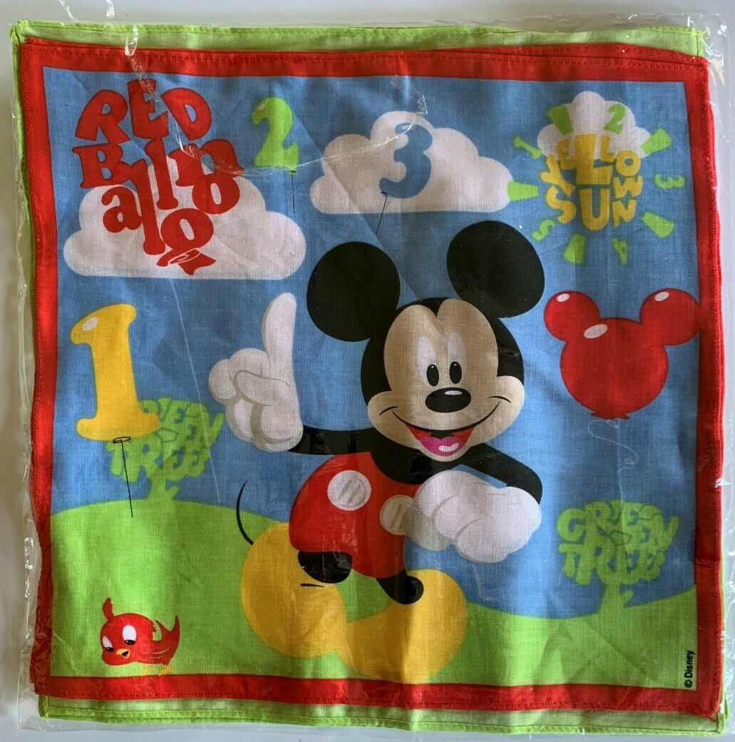 Disney Mickey Mouse Handkerchiefs Pack of 4