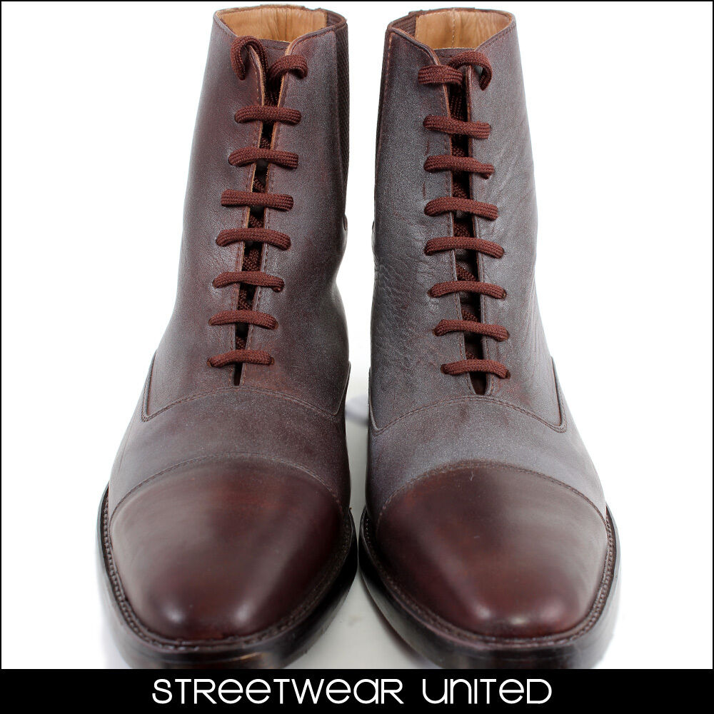 Streetwear Premium Genuine Leder Hand Made Style Ankle Laces Schuhes Italian Style Made 316 0a32ce