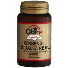GINSENG JALEA REAL 60 CAPSULAS 600mg OBIRE TONIFICANTE, RECONSTITUYENTE, ENERGIA
