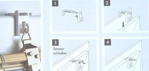 2er Set Klemmträger Klemmhalter Klemmbefestigung Halter für Ösenaufhängung