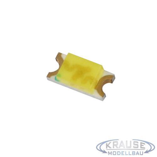 Km0120 10 Pezzi SMD LED 1206 warmweiss con vernice Rame Filo Modello 0,15mm ferroviario