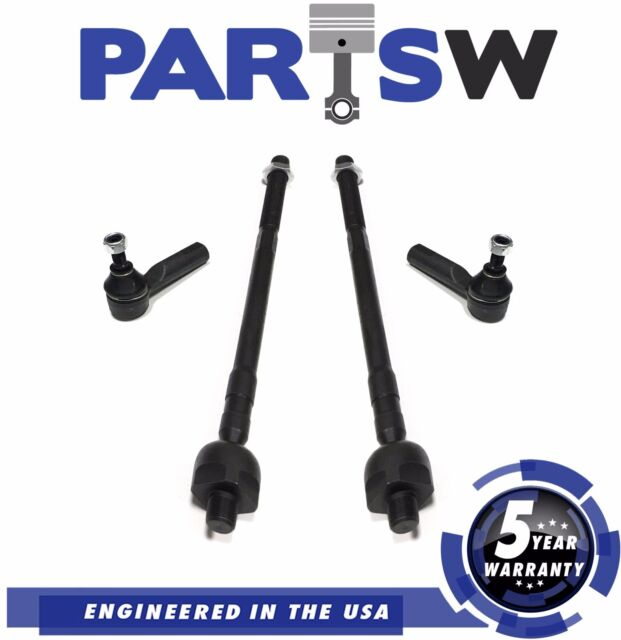 4 Pc Steering Suspension Kit Tie Rod Ends Inner Outer For Altima Maxima Nissan